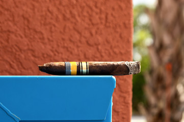 cigar with ash