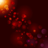 Magic sparkle, light dots; vector bokeh effect poster
