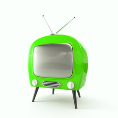 Green apple - stylish retro TV