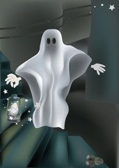 ghost on a ladder