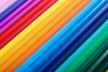 Colorful pencils - background