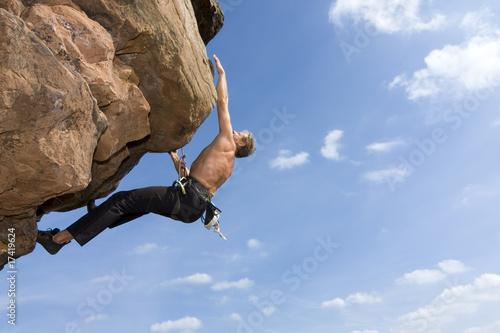 Extremes Felsklettern
