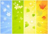 Fototapety Four seasonal backgrounds