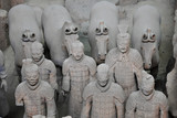 Terracotta warriors and horses, Xian, China poster