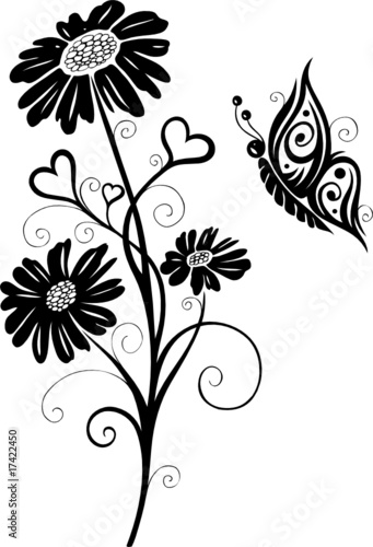 Christine Krahl   Fotolia.com Wandtattoo, Blumen, Blüten, Schmetterlinge,  Floral