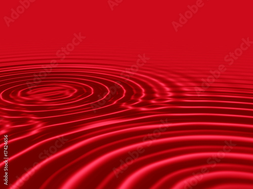 Blood red liquid with rippled waves