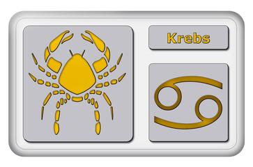 3D-Button - Tierkreiszeichen - Krebs