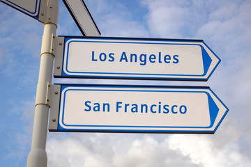 los angeles and san francisco signs