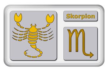 3D-Button - Tierkreiszeichen - Skorpion