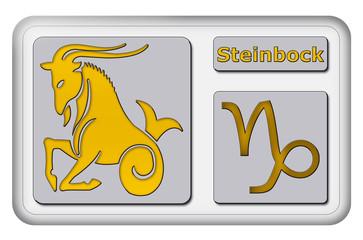 3D-Button - Tierkreiszeichen - Steinbock
