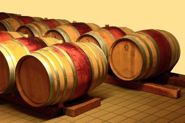 Barrique Weinfässer, Fruli Julisch Venetien, Trieste, Italien
