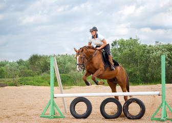 show jumping.