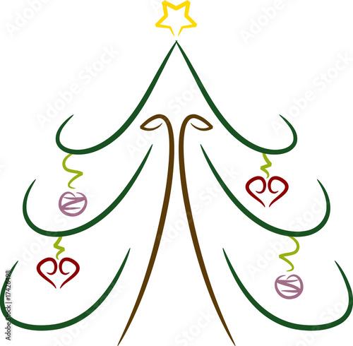 einfache farbige zeichnung weihnachtsbaum stockfotos. Black Bedroom Furniture Sets. Home Design Ideas