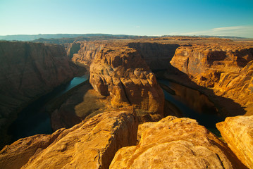 Horseshoe Bend and colorado river in Northern Arizona