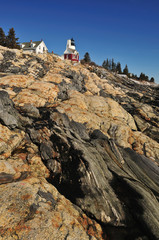 Pemaquid Lighthouse at Lowtide on the Maine Coast