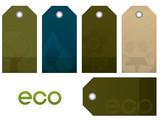 Environment vector tag set poster