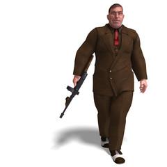 bad mafia gun man