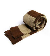 woolen scarf with stripes on white background