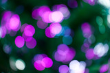 Christmas lights bokeh poster