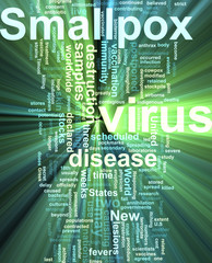Smallpox word cloud glowing