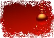 Red christmas ball - background illustration