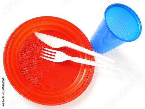 colorful disposable tableware - 17444005