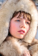 swathed in furs