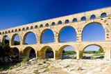 Fototapety Roman aqueduct, Pont du Gard, Languedoc-Roussillon, France
