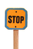 Yellow Stop Signal Sign