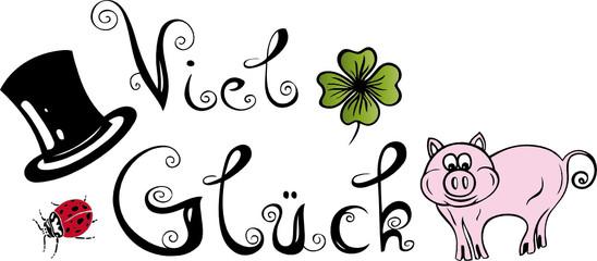 Klee, Glücksklee, Silvester, Sylvester, Schriftzug, Logo
