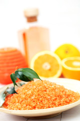 orange bath salt