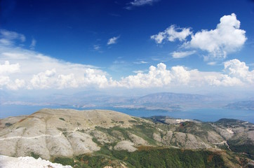 View from Pantokrator Mountain