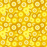 Retro ellipse pattern in fashion trend colors poster