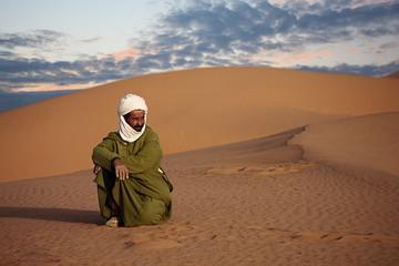 Touareg nel deserto del Sahara