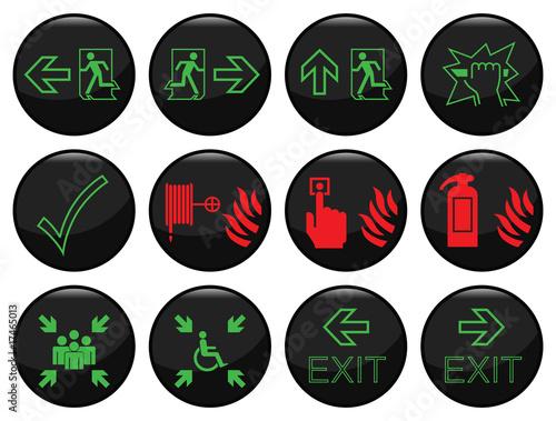 czarna-ikona-ognia-i-drogi-ewakuacyjnej-ustawiona-indywidualnie-warstwowo