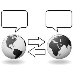 East meets West Hemispheres translation communication
