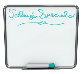 Today's Special - Blank White Dry Erase Board