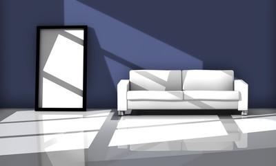 Sofa white 3D