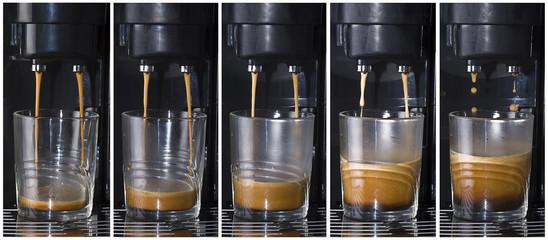 Haciendo un buen café.