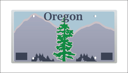 Oregon License Plate