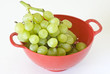 grapes in colander