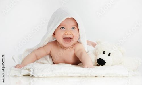 Leinwanddruck Bild little child baby