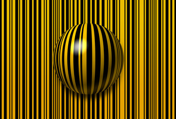 Abstract lines and sphere