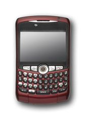 Burgandy PDA with clipping path