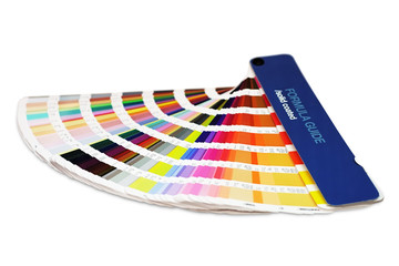 Color swatch book for offset printing isolated on white