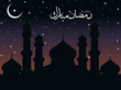 night time background for ramadan