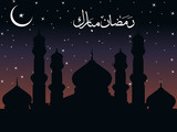 night time background for ramadan poster