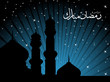 background with mosque silhouette