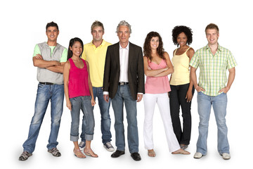 Group of students standing with lecturer