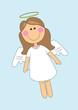 Leinwanddruck Bild - cute angel girl